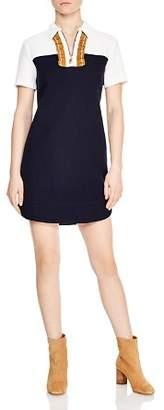 Sandro Anne Color-Blocked Mini Dress