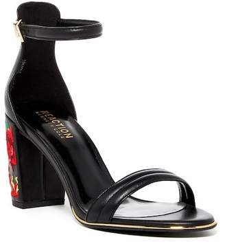 Kenneth Cole Reaction Lolita Embroidered Block Heel Sandal