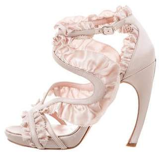 Alexander McQueen Ruffle Caged Sandals