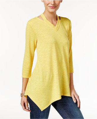 Style & Co Cutout Handkerchief-Hem Tunic, Only at Macy's $49.50 thestylecure.com