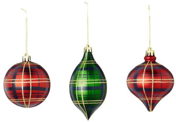 Tartan Christmas Tree Decorations (6 pack)