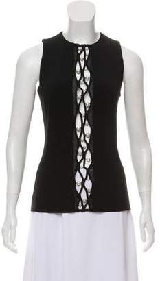 Thierry Mugler Embellished Sleeveless Top