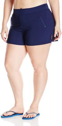Beach House Woman BEACH HOUSE WOMAN Women's Plus Size Paloma Board Short with Waist Band and Zip Pockets