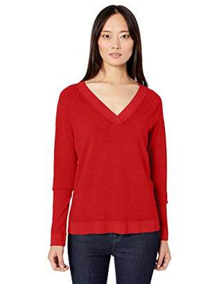 Pendleton Women's Long Sleeve Magic Wash Merino V-Neck Sweater
