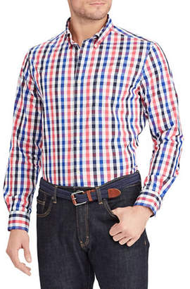 Chaps Checkered Easy-Care Sport Shirt