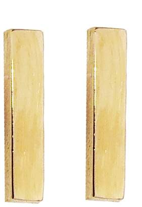 Jennifer Meyer Bar Stud Earrings - Yellow Gold