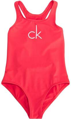 Calvin Klein Kids printed logo swimsuit