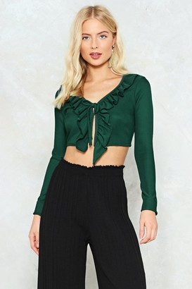 Nasty Gal So Long Hun Ruffle Crop Top