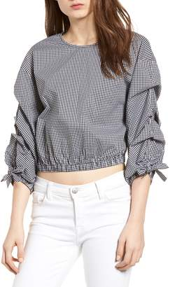 Bishop + Young BISHOP AND YOUNG Ruched Sleeve Blouse
