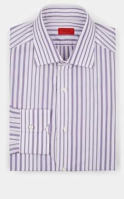 Isaia Men's Striped Cotton Dress Shirt - Purple