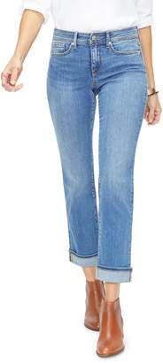NYDJ Marilyn Cuff Ankle Straight Leg Jeans