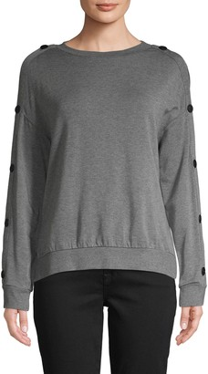 Bailey 44 Watch Tower Button-Sleeve Sweater
