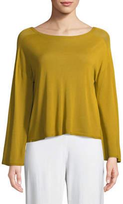 Eileen Fisher Seamless Sleek Bell-Sleeve Top