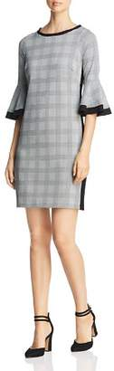 Three Dots Glen Plaid Sheath Dress