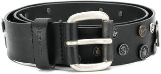 Diesel embossed coin belt