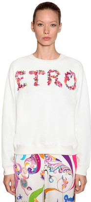 Etro Logo Printed Cotton Sweatshirt