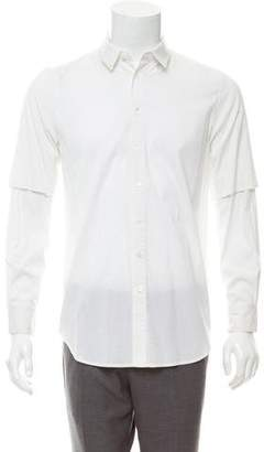 3.1 Phillip Lim Woven Double Sleeve Button-Up Shirt
