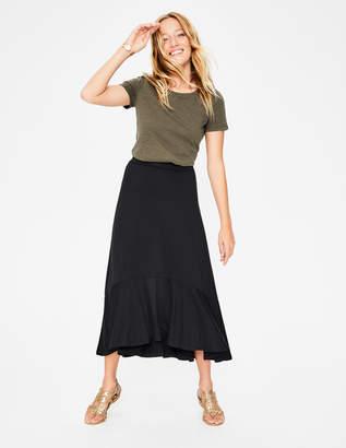 Boden Fluted Hem Jersey Skirt