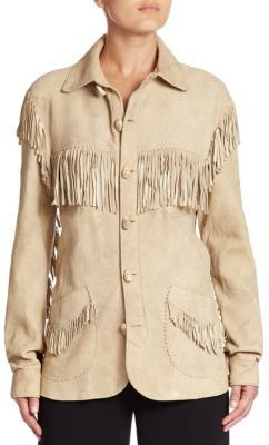 Ralph Lauren Collection Suede Garrison Shirt Jacket $3,990 thestylecure.com