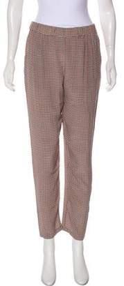 Equipment Silk Patterned Straight-Leg Pants