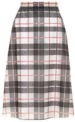 Burberry Tartan-printed plastic skirt