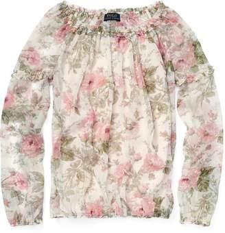 Ralph Lauren Floral Chiffon Top