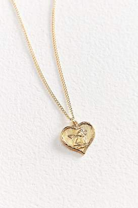 Vintage Heart Angel Charm Necklace