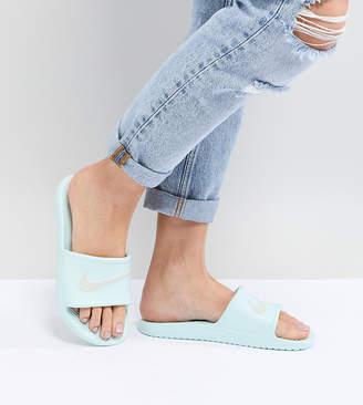 Nike Kawa Sliders In Mint Green