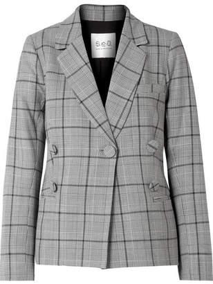 Sea Bacall Checked Woven Blazer - Gray