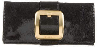 MICHAEL Michael Kors Michael Kors Embossed Leather Buckle Clutch