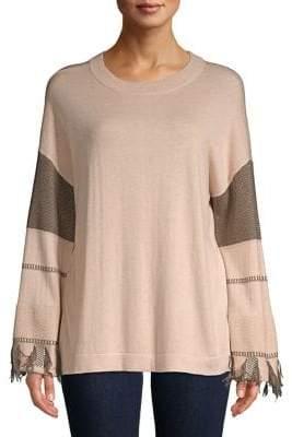 Lord & Taylor Fringe Pattern Sweater