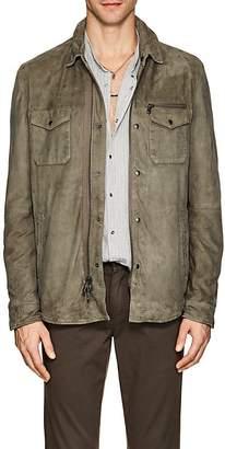 John Varvatos Men's Suede Shirt Jacket