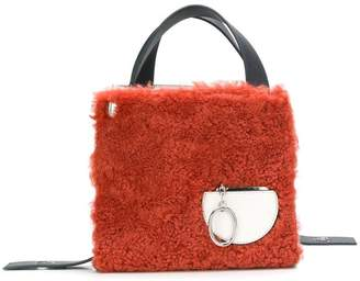 Lente Danse furry square tote bag