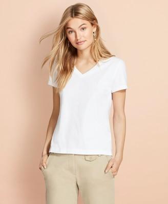 Brooks Brothers Garment-Dyed V-Neck T-Shirt