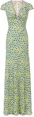 Libelula Long Tamara Dress Blue & Yellow Hearty Print
