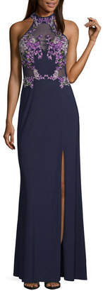 CRYSTAL SKY Crystal Sky Sleeveless Fitted Gown-Juniors