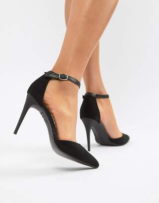 New Look Snake Detail Pointed Court