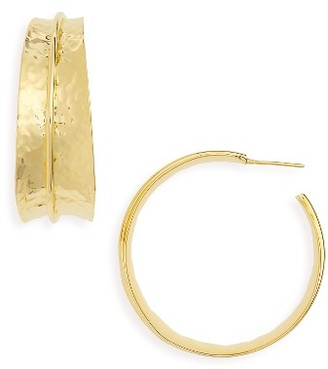 Women's Argento Vivo Hoop Earrings $55 thestylecure.com