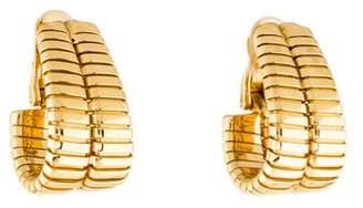 Bvlgari 18K Tubogas J Hoop Earrings