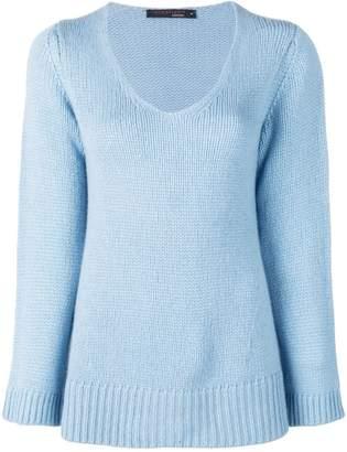 Incentive! Cashmere scoop neck knitted jumper