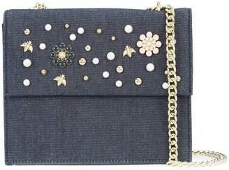 Christian Siriano floral denim crossbody bag