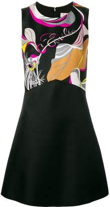 Emilio Pucci abstract detail short dress
