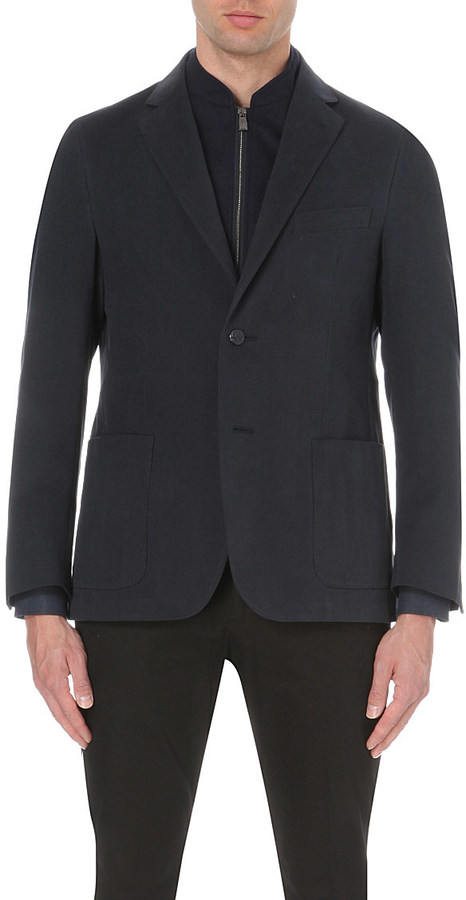 CornelianiCORNELIANI Twill weave wool and cashmere-blend jacket