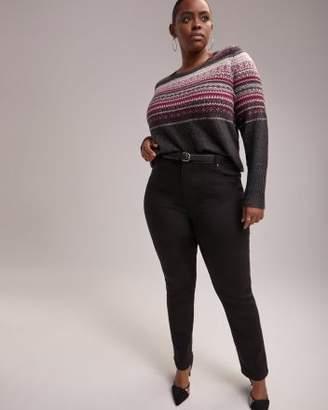 Penningtons Slightly Curvy Fit Straight Leg Black Jean - d/C JEANS