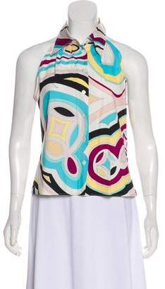 Emilio Pucci Sleeveless Button-Up Top