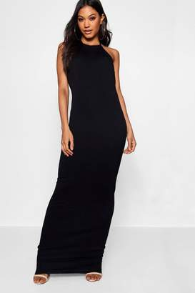 boohoo 90's Neck Basic Jersey Maxi Dress