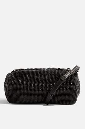 Topshop Chia Diamante Cross Body Bag