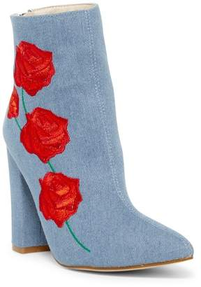 Cape Robbin Beautiful Floral Embroidered Bootie