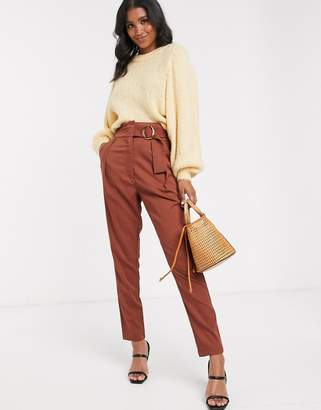 Y.A.S high waist wide leg pant with wide belt