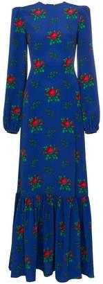 DAY Birger et Mikkelsen The Vampire's Wife Belle padded shoulder floral print maxi dress
